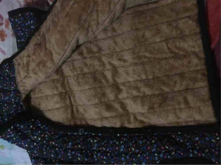老年人冬季保暖半袖护肩马甲加绒大码居家厚背心60-80岁妈妈短袖棉袄 蓝色小花 3XL建议130-155斤 晒单图