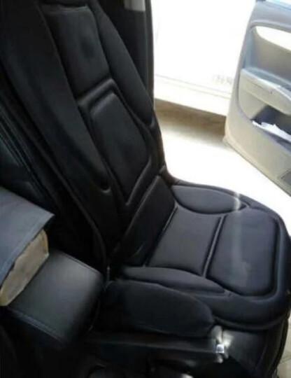COMFIER冬季汽车坐垫 电动加热按摩多功能座椅垫 车载家用 深灰毛绒-腰部座部加热按摩 晒单图