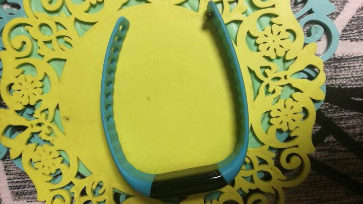 【免费雕刻乐心mambo大麦版智能运动手环计步器来电提醒USB充电ios安卓蓝牙适配腕带 浅蓝色腕带-定制 晒单图