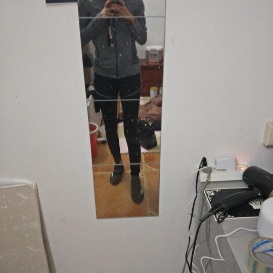 瑜伽服女套装健身服女运动跑步修身速干健身房衣服 带帽灰色四件套 M 晒单图