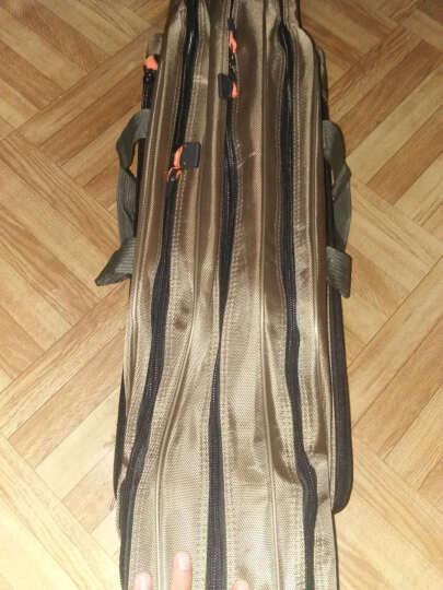 瑞豹(Rimbato) 瑞豹渔具包80 90 1米1.2米双层三层大肚包鱼包海竿包鱼竿包钓鱼包鱼包 咖啡色加厚大肚包 100cm三层 晒单图