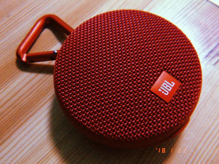 JBL CLIP2 无线音乐盒二代 蓝牙便携音箱 低音炮 户外迷你小音箱 桌面音响 高保真无噪声通话 红色 晒单图