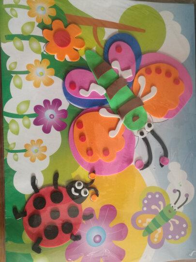 EVA立体贴画手工制作材料立体贴画儿童DIY手工创意粘贴画系列益智玩具 W韩版系列16张K3301 晒单图
