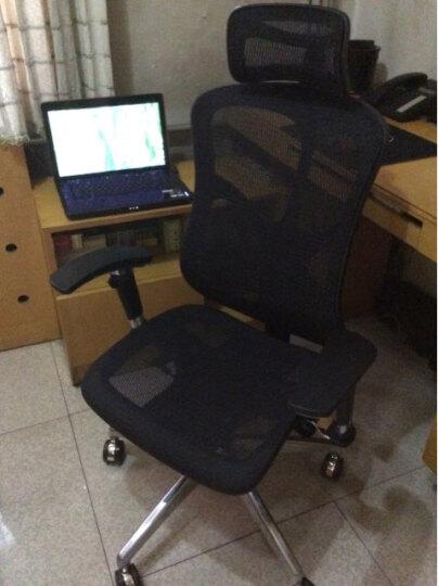 达宝利 人体工学电脑椅子办公椅网布座椅 转椅 可躺 家用JNS521 黑色 铝合金脚架 晒单图