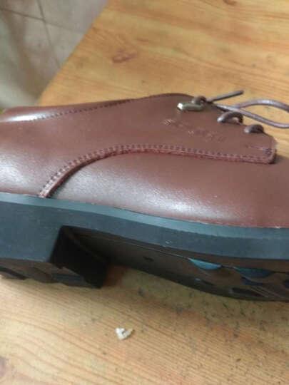 瓦尔希 正装皮鞋男士皮鞋商务皮鞋时尚潮流系带休闲鞋子大码英伦男鞋1805 1805棕色 40 晒单图