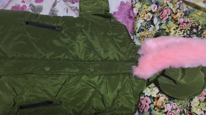 凯瑾 童装女童棉衣中长款儿童棉服外套中大童新款冬季韩版小女孩棉袄加厚保暖 红色 120 晒单图