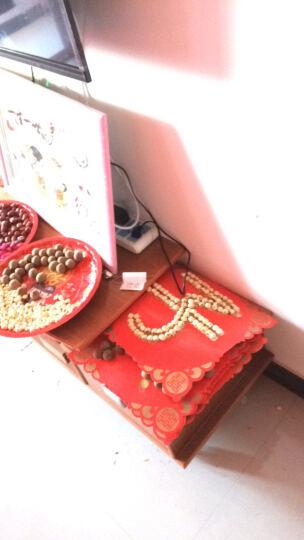 造藝坊 婚庆用品 喜糖水果百合盘马口铁敬茶托盘茶盘结婚果盘卡通西式婚宴用品 幸福美满果盘 39cm 晒单图