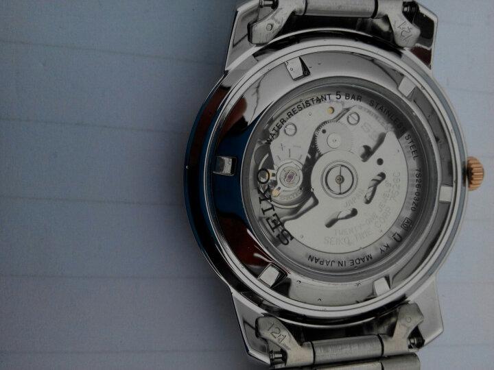 精工(SEIKO)手表 日本原装进口SEIKO5号系列棕盘钢带商务休闲全自动机械男表SNKM90J1 晒单图