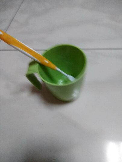 【买3免1】茶花塑料漱口杯卡通情侣套装牙刷杯儿童洗漱杯宝宝牙缸刷牙杯家用简约杯子 花瓶晶透杯_绿色420ML 晒单图