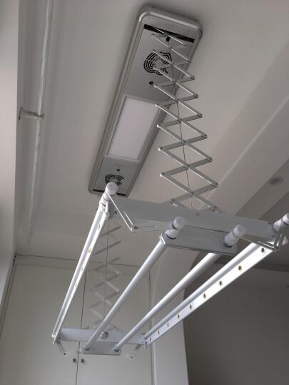 宝优妮 电动晾衣架阳台四杆伸缩晒衣架紫外灯光LED面板包安装银色DQ9006-13 晒单图