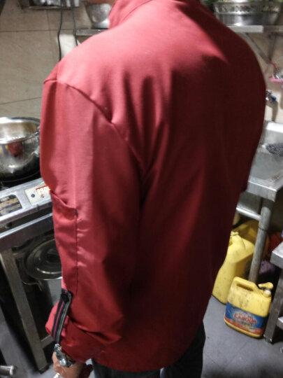 尚婷米酒店短袖工作服夏装男女快餐店服装西餐厅饭店餐饮咖啡厅服务员工作服定制 男红色+围裙+帽子 L 晒单图