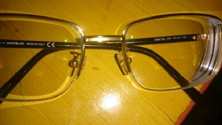 【官方授权】MontBlanc 万宝龙 男款亚洲版玫瑰金色镜框黑色镜腿光学眼镜框眼镜架 MB 478U 030 57mm 晒单图
