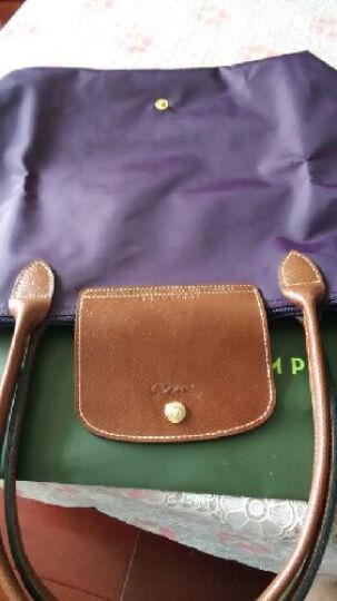 LONGCHAMP 珑骧 女包大号长柄饺子包1899防水购物袋 可折叠多色 深紫645 晒单图