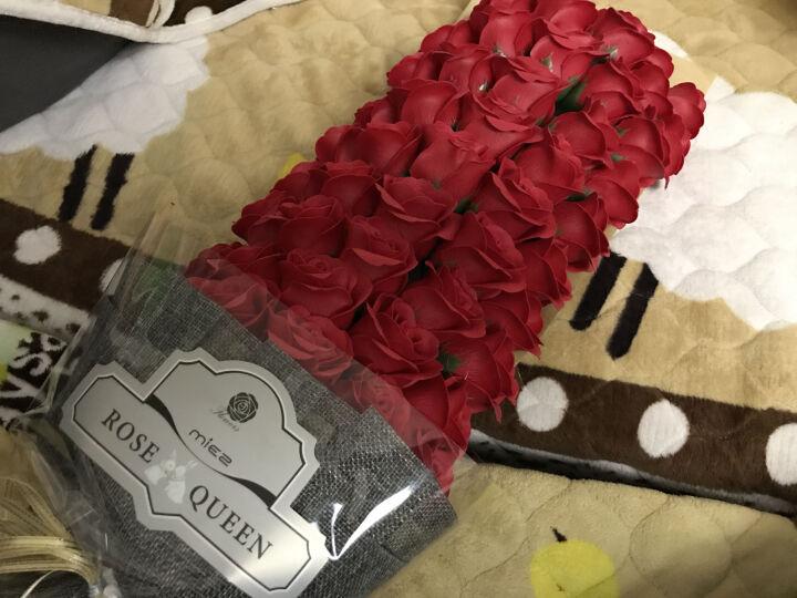 米兹MIEZ保鲜花速递全国送花玫瑰花礼盒香皂花永生花仿真鲜花生日圣诞节礼物女生 21朵玫瑰花混色粉色 晒单图