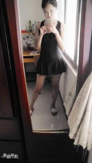 法莎罗儿游泳衣女连体保守女士泳装学生遮肚显瘦大码裙式平角温泉 黑色泳衣95-110斤(XL) 晒单图