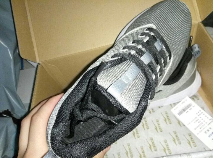 鸿星尔克ERKE 男运动休闲防滑耐磨缓震跑步鞋运动鞋 11118114078 中灰/正黑 42 晒单图