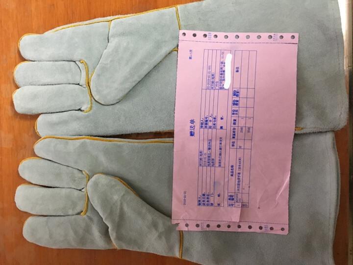 电焊牛皮手套  焊接作业防护 耐磨耐用 隔热阻燃 防火花飞溅劳保电焊工手套 多规格 加长40CM 晒单图