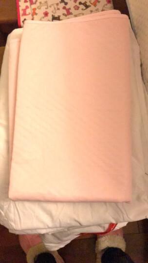 LOVEBBF.WLP&GYF 婴儿隔尿垫 吸水透气宝宝防水垫 新生幼儿隔尿垫子 可水洗棉隔尿床垫 绿色菱格小猫 小号50*70 晒单图