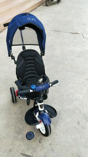 小虎子儿童三轮车脚踏车溜娃神车可折叠躺倒座位转向遛娃车小孩手推车1-3岁T300升级 星际蓝(折叠款) 晒单图