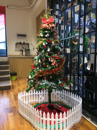 圣诞树套餐 圣诞节日装饰挂件1.5米松针款加密场景布置豪华加密型圣诞树 圣诞树套装1.8米豪华加密发光 晒单图