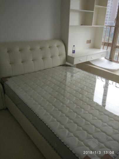 思卡娜 床 皮床 真皮床 储物床 双人床 主卧床1.8米床小户型1.5米软床现代简约床家具 真皮床+3D独立弹簧乳胶床垫+1柜子 1800*2000---气动结构 晒单图