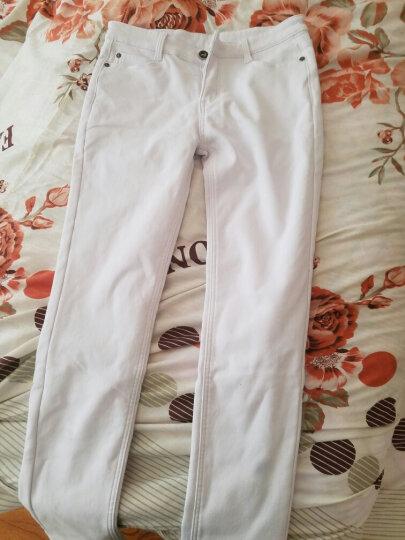 ShiBeiLun休闲男装牛仔 纯白色 紧身新款欧版修身哈伦小脚长裤子 男士款运动裤 白色牛仔裤( 加绒款 ) 36码 ( 2尺8) 晒单图