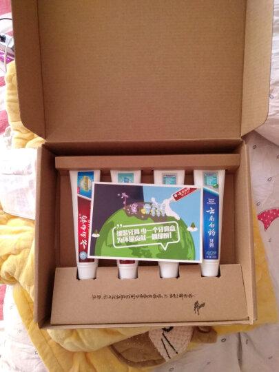 云南白药 环保牙膏4支装 益生菌 (晨露100g×2+冰凝薄荷105g+激爽薄荷105g+环保购物袋) 晒单图