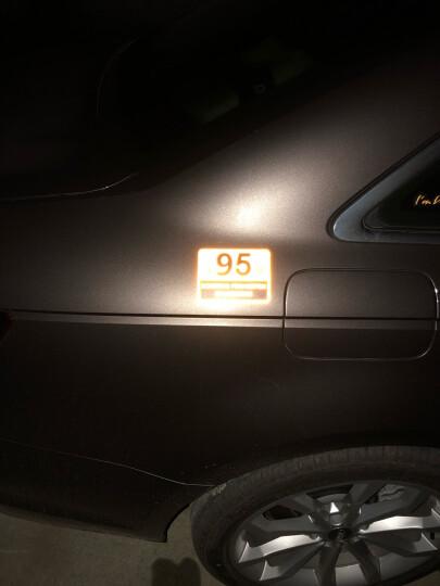 3M反光汽车加油贴纸 92 95 98号 柴油 油箱盖贴 创意个性车身装饰划痕遮挡贴膜 【95 方】荧光黄 晒单图