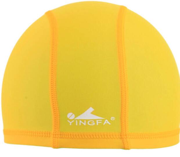 英发(YINGFA)氨纶泳帽 黄色 晒单图