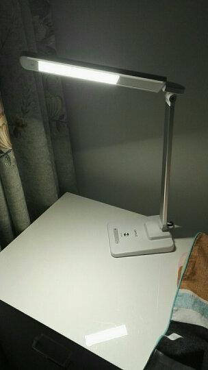 欧普照明 LED台灯侧发光床头灯 金属灯体触控四段滑动调光银色7瓦4000K 晒单图