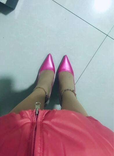 Clio Muses2017春夏新款性感细跟高跟鞋 女鞋OL防水台职业浅口高跟女单鞋 酒红色 37 晒单图