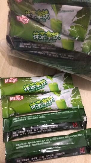 Mings铭氏 日式抹茶拿铁奶茶22g*60条量贩装 三合一速溶袋装奶茶粉 晒单图