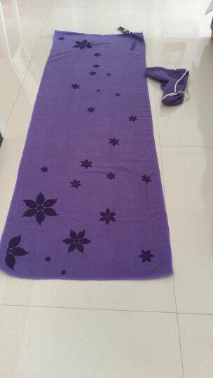 哈他瑜伽铺巾 硅胶防滑瑜伽垫毯子 加厚吸汗健身毯 紫色(送收纳包) 晒单图