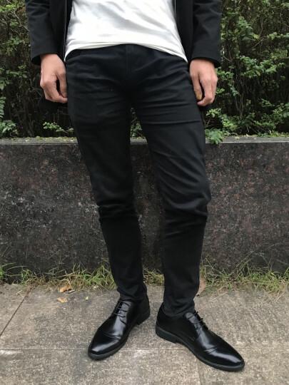 法国芭步仕春季新款男鞋经典皮鞋男爸爸鞋真皮牛皮系带时尚商务休闲鞋 黑色-标准码 41 晒单图
