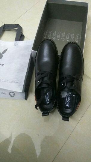 花花公子皮鞋男士商务休闲鞋真皮时尚流行低帮鞋子舒适正装皮鞋 棕色 41 晒单图