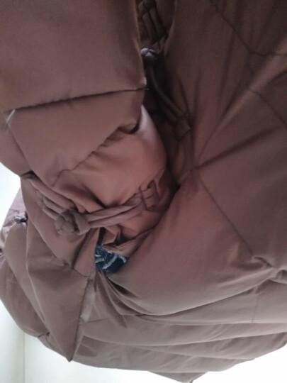 喜卉妈妈装冬装棉衣外套50-60岁立领保暖棉服中老年女装中长款羽绒服 粉紫色 XL(建议105-120斤) 晒单图