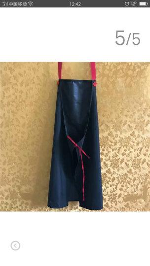 苏立得 韩版时尚可爱男女情侣围裙厨房做饭围腰防水防油成人罩衣 防水防油绿色背带款 晒单图