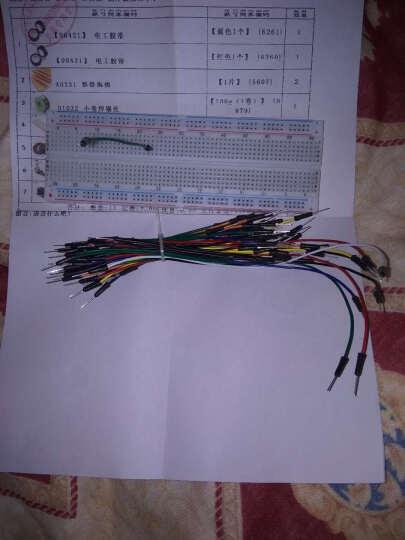 千水星 830面包板(白色) 电路测试 电子diy制作模型板 实验板开源DIY 白色 晒单图