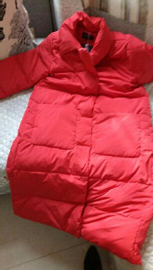 MUZV羽绒服女中长款新款加厚女装韩版宽松显瘦休闲保暖羽绒服大码外套 大红色 L(建议135-155斤) 晒单图