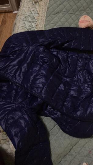 羽绒服男秋冬轻薄立领修身短款大码白鸭绒超轻薄中青年保暖外套潮 藏青色 2XL(建议拍小一码) 晒单图