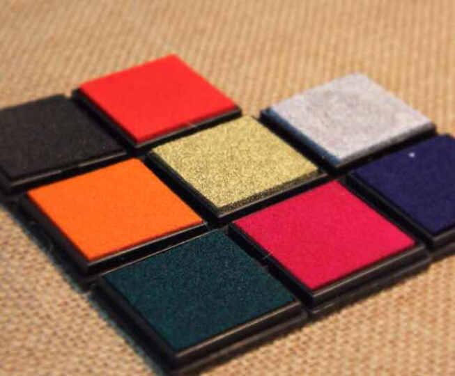 简约可爱方块彩色印泥印油 4x4cm 快干DIY日记相册必备 多色可选 蓝色方盒印泥 晒单图