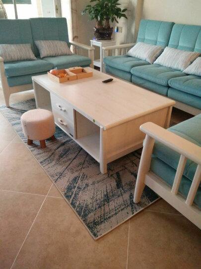 百利龙 现代简约艺术抽象水墨客厅地毯茶几卧室满铺地毯亚麻北欧式长方形 170713A 200*290厘米大型客厅地毯 晒单图