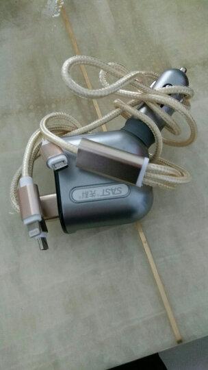 先科(SAST)车载充电器 车充点烟器一拖三双USB 汽车电压检测LED数显充电器 M56银色【带电压显示】 扩展点烟孔 晒单图
