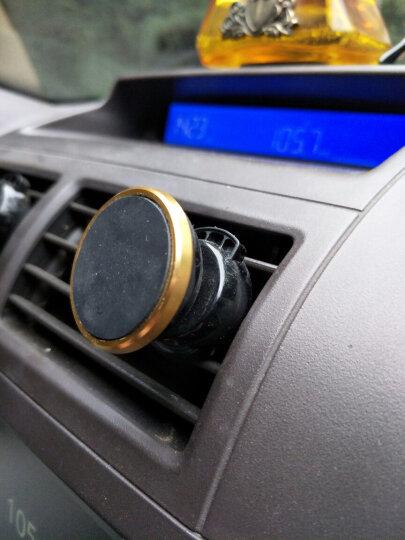 朗客 多功能手机支架磁吸夹式适用于车载出风口/书桌 适用于三星苹果手机或导航设备 金色 晒单图