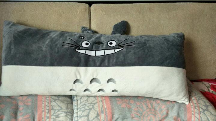 卡通儿童毛绒玩具长条布娃娃睡觉抱枕双人枕头龙猫公仔可爱礼物女 史迪仔表情 90厘米可拆洗双人枕头 晒单图