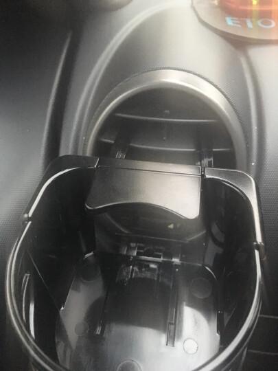 SEIWA 车载烟灰缸汽车用品水杯架 多功能手机支架置物筒空调出风口饮料架商务创意收纳盒 烟灰缸w871送挂钩(太阳能LED灯 激情红 ) 晒单图