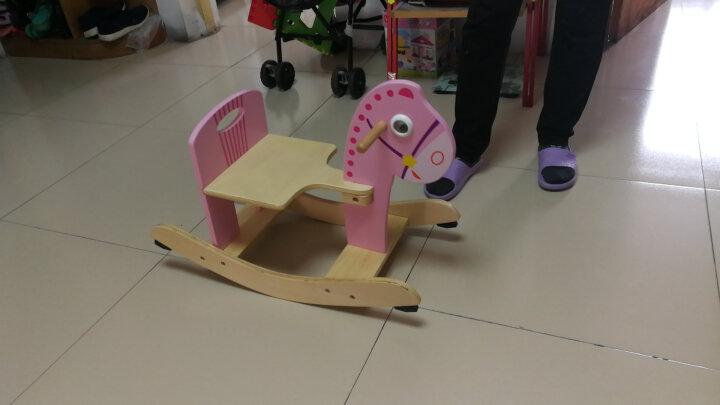 特宝儿(topbright)23.5度摇摇马 木质小女孩儿童玩具宝宝木马小孩礼物 晒单图