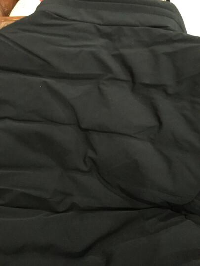 花花公子贵宾精品高端羽绒服男2017男士冬季新款加厚男青年短款连帽外套男装 黑色. M 晒单图