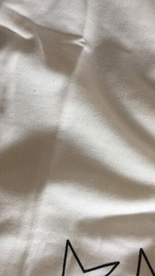 御景含香T恤女长袖2018春秋季新款纯棉显瘦套头宽松圆领大码卫衣 白色 XL 晒单图