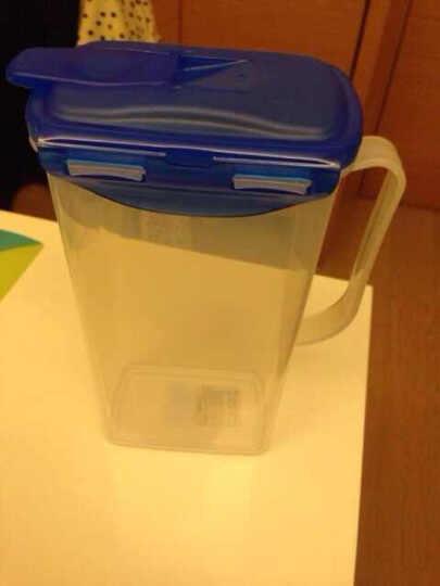 乐扣乐扣(LOCK&LOCK) 乐扣乐扣塑料水壶大容量家用冷水壶带拧手饮料壶果汁壶水杯 ABF627H-绿色盖1.2L 晒单图